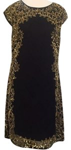 JS Collections Sequin Embellished Shift Sheath Embroidered Dress