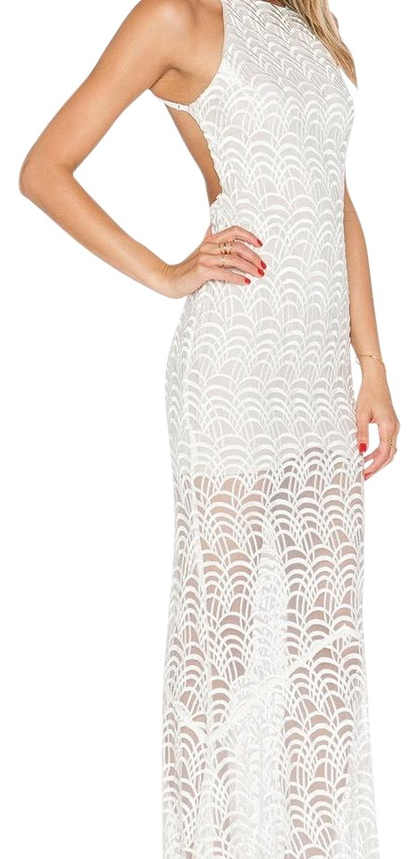 Stone Cold Fox White Logan Gown Long Formal Dress Size 10 (M) - Tradesy