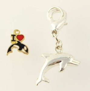 ad4627c35 Other Dolphin Orca Whale Charms - Nautical Love Animal Jewelry Pendant