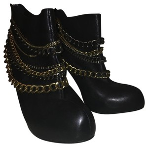 Dolce Vita Leather Chain Black Boots