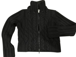 Sportmax Cardigan Zip-up Black Jacket