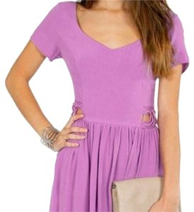 Tobi short dress Purple Lace Up Criss Cross A-line Swing Flowy on Tradesy