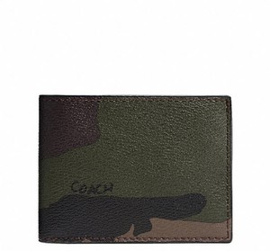 Coach COACH SLIM BILL ID WALLET IN CAMO Print NWT