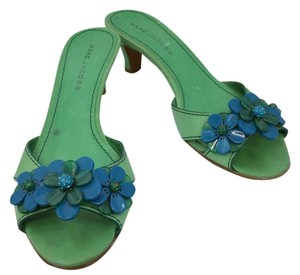 Marc Jacobs Leather Green Sandals