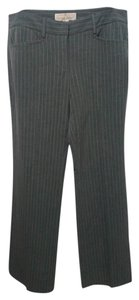 Michael Kors Striped Pinstripe Straight Pants gray