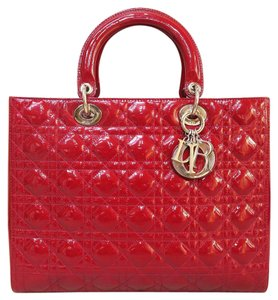 Dior Large Lady Vernis Shoulder Bag