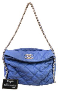 Chanel Quilted Chain Around Calfskin Hobo Bag