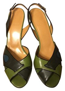 Bally Green/black/blue Pumps
