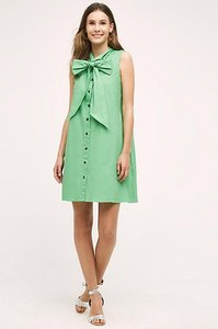 Anthropologie short dress Emerald Green on Tradesy