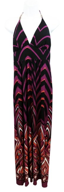 Item - Printed Stretchy Empire 12 Long Casual Maxi Dress Size OS