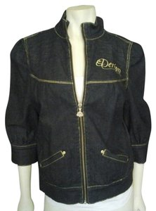 House of Dereon Miss Tina Womens Jean Jacket
