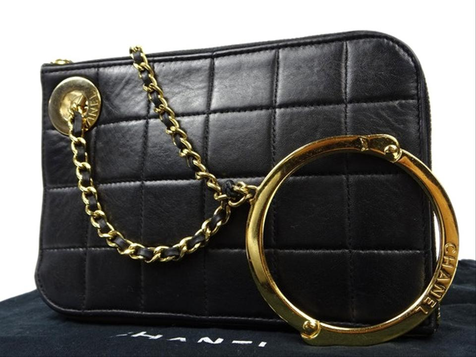583742fe75385 Chanel Clutch [enterprise] Cc Handcuff Quilted 209698 Black X Beige ...