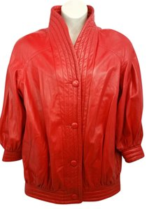 Stavros Red Leather Jacket
