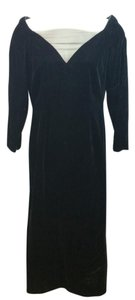Victor Costa Black Velvet Gown Dress