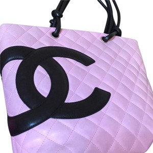 Chanel Cambon pink and black tote bag Tote in Pink & Black
