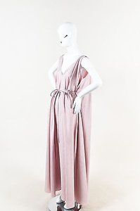 Pink Maxi Dress by The Row Silk Sleeveless Belted Adabra Maxi Gown