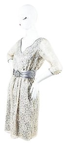 Badgley Mischka Beige Dress