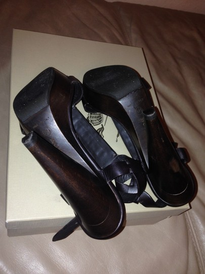 Burberry Brown Platforms
