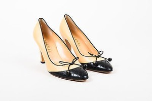 Chanel Nude Leather Nude, Black Pumps