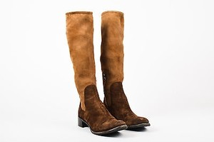 Prada Tan Suede Two Brown Boots