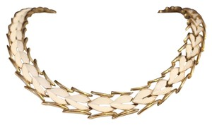 Trifari Crown Trifari Rare Articulated Signature Choker Necklace Gold Tone