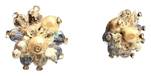 Other Vendome Vintage Cluster Aurora Silver Clip On Earrings Rare