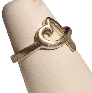 Sterling Silver 925 Marked Ribbon Heart Ring Size 6