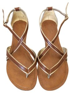 Other Dark tan with gold trim Sandals