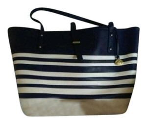 Brahmin Tote in Blue and white