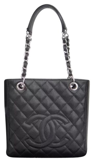 Preload https://item1.tradesy.com/images/chanel-matelasse-quilted-chain-cc-black-caviar-leather-tote-19804370-0-1.jpg?width=440&height=440
