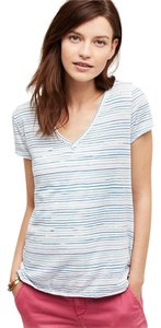 Anthropologie T Shirt Blue and White