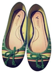American Eagle Outfitters Green/navy Flats