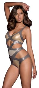 Agent Provocateur Gold Mazzy One Piece Swimsuit