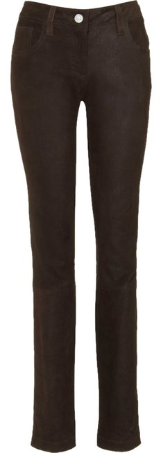 Item - Brown New Leather Pants France Skinny Jeans Size 27 (4, S)