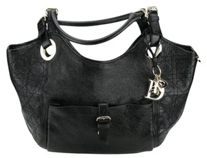 Dior Charm Leather Tote Shoulder Bag