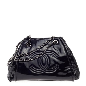 Chanel Patent Tote in Black