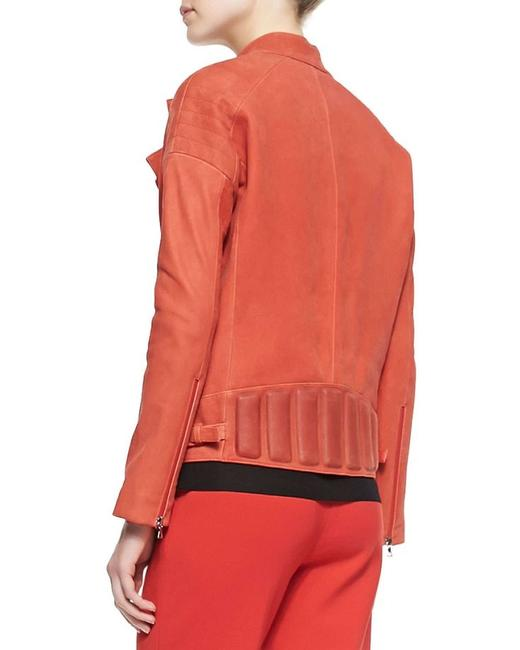 J Brand Motorcycle Red Leather Jacket