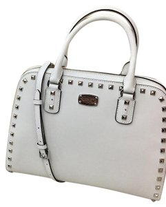Michael Kors 35h3gfss3l Satchel in ARCTIC WHITE