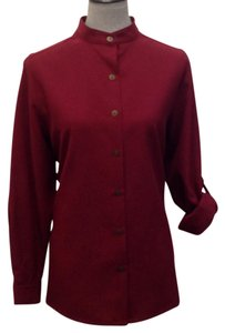 Bon Worth Button Down Shirt Burgundy