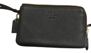 Coach Double Corner Zip Wristlet in Black