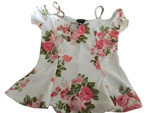 Rue 21 Top White floral