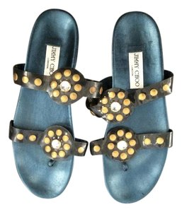 Jimmy Choo Teal & bronze Sandals