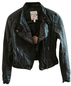 Urban Behavior Faux Leather Moto Edgy Motorcycle Jacket
