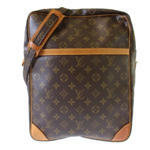 Louis Vuitton Cross Body Brown Messenger Bag