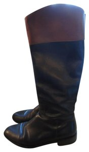 Saks Fifth Avenue Riding Brown Black Boots