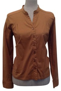 Christopher & Banks Button Down Shirt Brown
