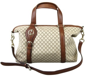 Gucci Diamante Canvas Village Double Tote in Beige