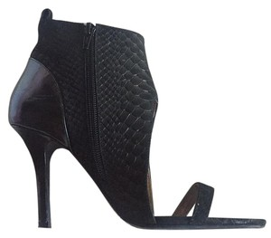 Jeffrey Campbell Python Bootie Mixed Leather Black Pumps