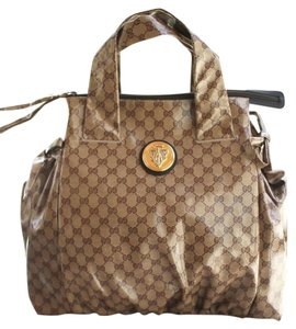 Gucci Crystal Gg Canvas Tote in Brown