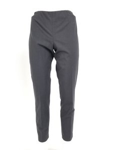 Brunello Cucinelli Charcoal Wool Narrow Leg Wool Blend Skinny Pants Grey